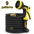 Deluxe 25 50 100 FT Feet Expandable Flexible Garden Water Hose w/ Spray Nozzle