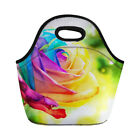 New Fashion Lunch Box Tote Bag Insulated Noprene Lunchbags Colorful Rose Printed