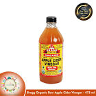 APPLE CIDER VINEGAR ORGANIC RAW-473 ML / 16 FL OZ-{ BRAGG }- Free Shipping World