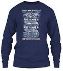 Scuba Diving Wet Suit - Give A Man And He'll Be Gildan Long Sleeve Tee T-Shirt