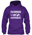 Swimming Therapy-new - Because Therapy Is Expensive Gildan Hoodie Sweatshirt