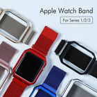 For Apple Watch 3 2 1 Strap 38mm/42mm Milanese Loop Replacement With Metal Case