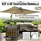 NEW 10' x 6.5' Banana Cantilever Patio Umbrella Tilt Rectangle Hanging Canopy