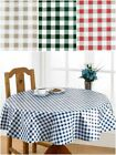 Gingham Check Wipe Clean PVC Coated Table Cloths For Outdoor & Kitchen Dining