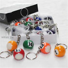 16pcs/Lot Pool Billiard Snooker Ball Number Ball Keychain Keyring