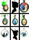 NEVERLAND PETER PAN WENDY TINKERBELL CHARM LOCKET NECKLACE PENDANT EARRINGS