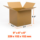 9x6x6 Inches Single Wall Brown Corrugated Cardboard Postal Mailing Box Cheap
