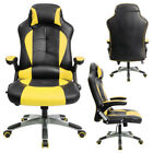 leather gaming chair - Office Furniture Gaming Chair Office Computer High Back Leather Reclining yellow