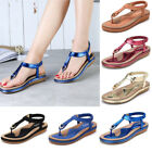 SOCOFY Women Summer Bohemia Slipper Flip Flops Lady Sandals Casual Thong Shoes