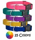 blue colored dog - Nylon Dog Collar, Harmon Mae Pups, Made in USA 25Colors 8Sizes! Puppy,Adjustable