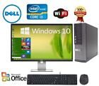 CLEARANCE! Fast Dell Desktop Computer PC Core i3 WINDOWS 7/10 + LCD + KB + MS