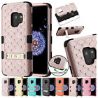 for Samsung Galaxy S9 G960 TUFF Diamond Bling Case Cover Kickstand+PryTool