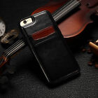 SLIM Luxury Leather Back Case Cover For iPhone X 8 7 6s 5 Plus with Card Holder