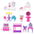 Miniature for Barbie Doll House Furniture Bedroom Desk Cabin