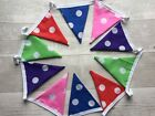 Double-sided Cotton Bunting Handmade | Boys Girls Bedroom Playroom Spots