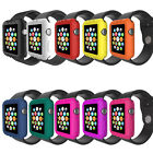 Soft Silicone Protective Bumper Cover Case For Apple Watch Series3 2 1 38mm 42mm