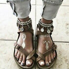 2018 Brown Fashion Gladiator Casual Sandals Girl Women Summer Flat Rome Shoes