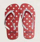 Kids Flip Flops Thongs Beach Swim Shoes Sandals Red/White with White Polka Dots
