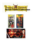 """Pirates Of The Caribbean Skull Beach Towel Collections 30""""x60"""""""