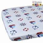100% Cotton Crib Fitted Sheet Soft Baby Bed Mattress Cover Protector Cartoon New