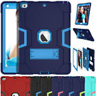 For iPad 9.7 2018 6th Gen Shockproof Hybrid Rugged Tough Kickstand Case Cover