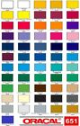 "10 Sheets 12"" Oracal 651 Vinyl  12 x 12 - Choose any colors"