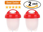 US Kitchen Egglettes Egg Cooker Hard Boiled Eggs without the Shell 6 Egg Cups