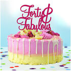 FORTY and FABULOUS Custom Birthday Cake Topper ANY AGE Personalised Decorations