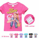 Внешний вид - Kid Girl JOJO SIWA Summer Cotton Short Sleeve T-shirt Tops Holiday Birthday Gift