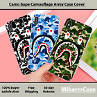 Camo Bape Camouflage Army Style Case Cover for Apple iPhone 5 6 7 8 X XS max XR