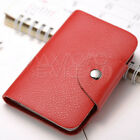 24 Cards Leather Credit ID Business Card Holder Pocket Wallet Purse Box New