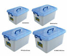 3/6 x 12L Large Plastic Storage Boxes Clip On Lid With Handle AT005