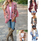 Hot Womens Loose Floral Kimono Cardigan Lace Blouse Tops Jac
