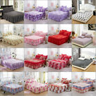 Various QueenKing Size Bed Wrap Bed Skirt Floral Dust Ruffle Drop Cover Bedroom image