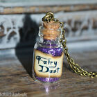 Cute small purple Fairy Dust Potion Bottle Vial Necklace - Peter Pan Tinkerbell