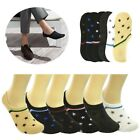 Lot Men Designed Ankle Invisible No Show Nonslip Loafer Boat Liner Cotton Socks