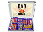 KING DAD Personalised FATHERS DAY Chocolate Selection Box Gift Hampers for Daddy