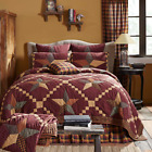 FOLKWAYS STAR QUILT SET -choose size & accessories - Primitive Check VHC Brands image