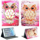 """For 8""""-8.5 Inch Tablet PC Pad Universal Printed Folding Folio Leather Case Cover"""