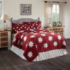 KENT QUILT SET-choose size & accessories-Red Primitive Star Chambray VHC Brands image