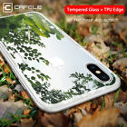 Hybrid Rubber Soft Silicone Tempered Glass Back Cover for iPhone X 8 7 6 Case