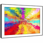 AB1004 Colourful Pink Modern Abstract Framed Wall Art Large Picture Prints