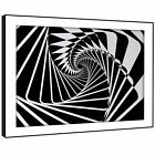 AB1224  black white Modern Retro Abstract Framed Wall Art Large Picture Prints