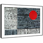 AB1637 Retro Red Black White Modern Abstract Framed Wall Art Large Picture Print