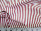 Uptown Fabric Upholstery Drapery Ticking Stripe Red and White