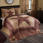 LANDON QUILT SET-choose size & accessories-Red Barn Star Primitive VHC Brands image