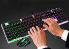 LED Rainbow Color Backlight Gaming Wired Keyboard Mouse Set Mechanical Keyboard