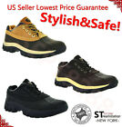4 Short Mens Winter Snow Work Boots Shoes Leather Upper Waterproof 3017