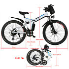 ANcheer 26'' Folding Electric Mountain Bike Bicycle Ebike & W/ Lithium Battery*