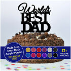 PERSONALISED Worlds Best DAD Daddy Grandad Cake Topper Decoration Fathers Day